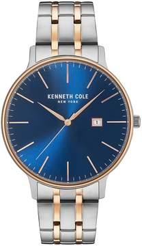 Kenneth Cole Two-Tone Analog & Date Bracelet Watch