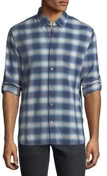 John Varvatos Roll-Up Plaid Sport Shirt