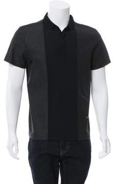 Calvin Klein Collection Textured Short Sleeve Polo