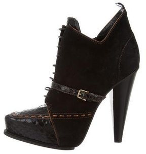 Derek Lam Python-Accented Suede Donya Booties w/ Tags