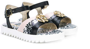 Roberto Cavalli printed buckle sandals