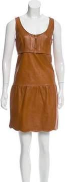 Cynthia Steffe Leather Mini Dress