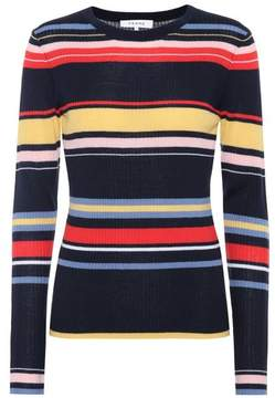 Frame Striped ribbed wool-blend sweater
