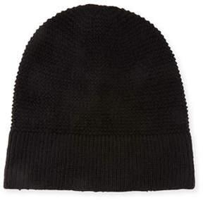 Rebecca Minkoff Garter-Stitched Headphone Beanie Hat
