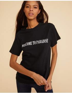 Cynthia Rowley | Welcome To Paradise Tee | Xl | Black