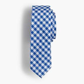 J.Crew Boys' tie in baltic blue gingham