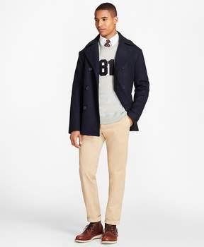 Brooks Brothers Wool-Blend Melton Pea Coat