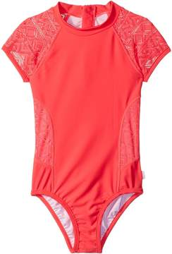 Seafolly Summer Essentials Short Sleeve Surf Tank One-Piece Girl's Swimsuits One Piece