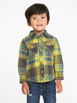 Old Navy Plaid Flannel Utility Shirt for Toddler Boys
