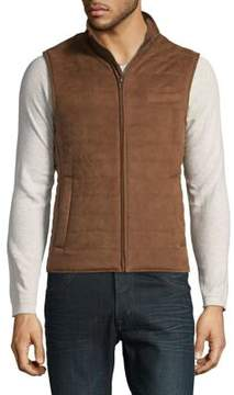 Black & Brown Black Brown Faux Suede Quilted Vest