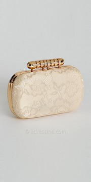 Camille La Vie Metal Top Lace Box Bag