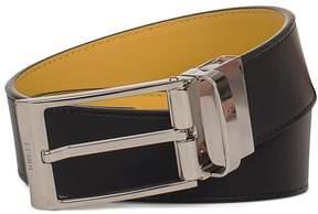 Fendi Black/yellow Dove Bag Bugs Reverse Leather Belt