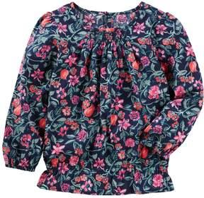 Osh Kosh Oshkosh Bgosh Girls 4-12 Floral Smocked Top
