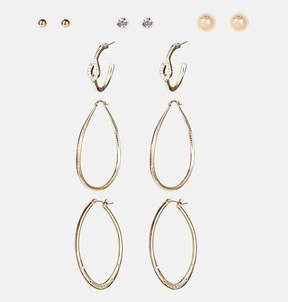 Avenue Oversize Oval Hoop Earring Set