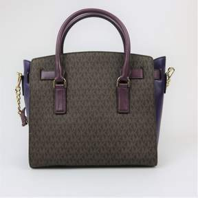 Michael Kors Hamilton Large East West Brown Satchel - BROWN - STYLE