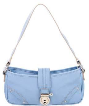 Burberry Pebbled Leather Shoulder Bag - BLUE - STYLE