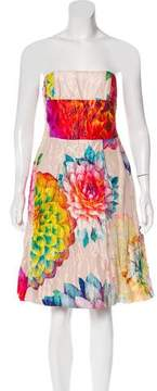 Strenesse Satin Floral Dress
