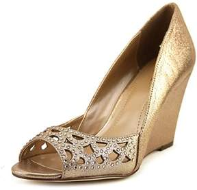 Style&Co. Style & Co Cathiee Women Open Toe Synthetic Gold Wedge Heel.