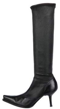 Sergio Rossi Stretch Knee-High Boots