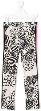 Roberto Cavalli multi animal print leggings