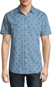 Sovereign Code Men's Misty Short-Sleeve Chambray Sport Shirt
