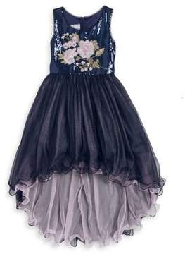 Iris & Ivy Girl's Embroidered Hi-Lo Dress