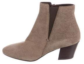 Aquatalia Embossed Suede Ankle Boots