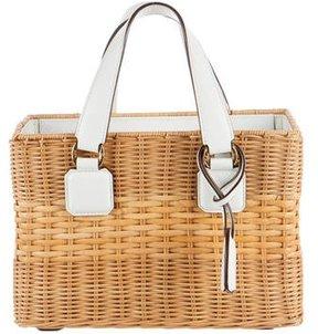 Mark Cross Manray Rattan Wicker Box Bag
