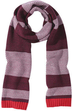 Joe Fresh Women's Stripe Scarf, Burgundy (Size O/S)