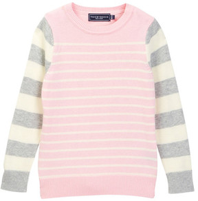 Toobydoo Pretty Pink Striped Sweater (Toddler, Little Girls, & Big Girls)