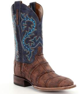 Lucchese Men s Malcolm Western Alligator Foot Boots