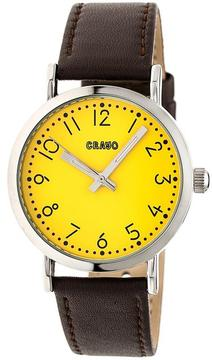Crayo Pride CRACR3803 Silver and Brown Leather Analog Watch