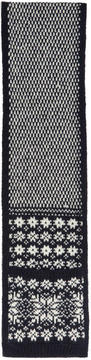 Thom Browne Navy Snowflake Fair Isle Pocket Scarf