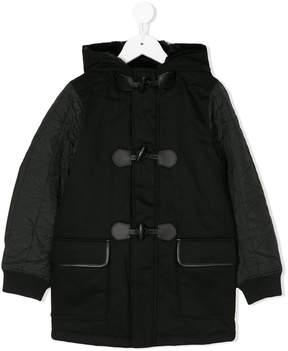 Karl Lagerfeld faux fur lined duffle coat