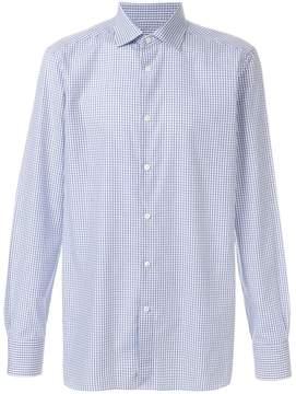 Ermenegildo Zegna grid print shirt