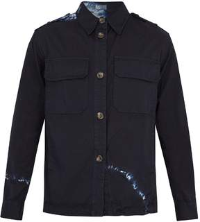 Raey Patch-pocket tie-dye twill jacket