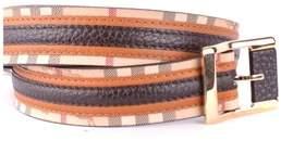 Burberry Men's Brown Leather Belt.