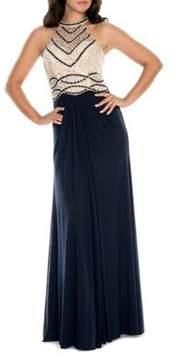 Decode 1.8 Beaded Bodice Floor-Length Gown