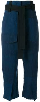Odeeh cropped belted trousers