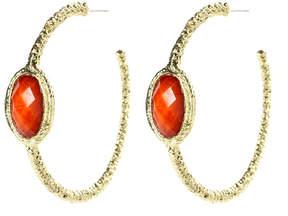 Amrita Singh Coral & Goldtone Hamptons Hoop Earrings