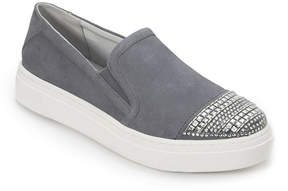 Foot Petals Denim Blue Finley Suede Slip-on Sneaker - Women