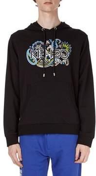Kenzo Logo Paisley-Graphic Pullover Hoodie