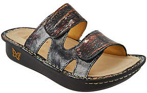 Alegria As Is Leather Adjustable Slide Sandals - Camille
