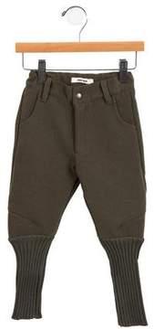 Bobo Choses Girls' Knit-Trimmed Skinny Pants