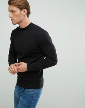 New Look High Neck Top In Black