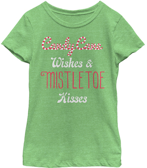Fifth Sun Green Apple 'Candy Cane Wishes' Tee - Girls