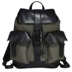Salvatore Ferragamo Two-Tone Leather Backpack