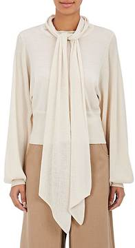 Chloé Women's Scarf-Neck Fine-Gauge Wool Sweater
