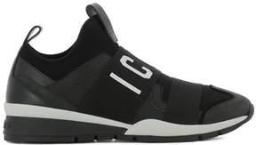 DSQUARED2 Men's Black Fabric Slip On Sneakers.