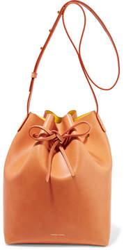 Mansur Gavriel Leather Bucket Bag - Camel